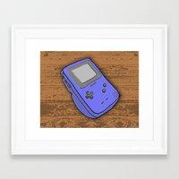 gameboy Framed Art Prints featuring Gameboy by Caroline David