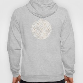 Geometric Gold Pattern on Marble Texture Hoody