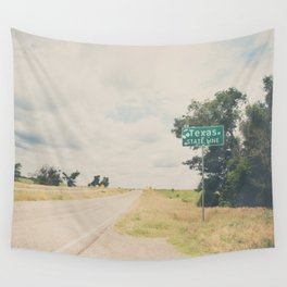 Texas state line ... Wall Tapestry