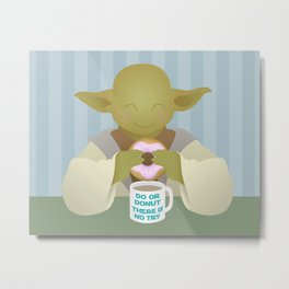 Do or DONUT - Little Yoda Metal Print