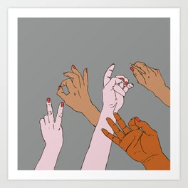 your hands Art Print