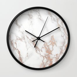 Rosey Marble Wall Clock