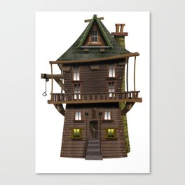 The Wood Cutter's House Canvas Print