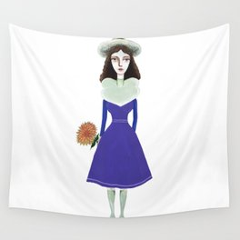 A girl in retro fashion Wall Tapestry