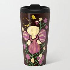Floral Flower Artprint Travel Mug