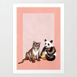 Friends & Noodles  Art Print