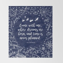 Where dreams are born Throw Blanket