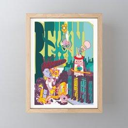 New York City Illustration - Behind Letters I Art Print Framed Mini Art Print