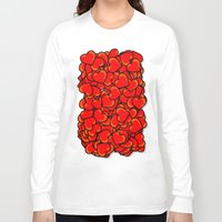 hearts Long Sleeve T-shirts featuring Heart by 10813 Apparel