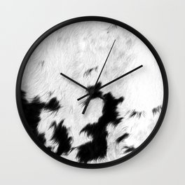 Spotted Cowhide Wall Clock