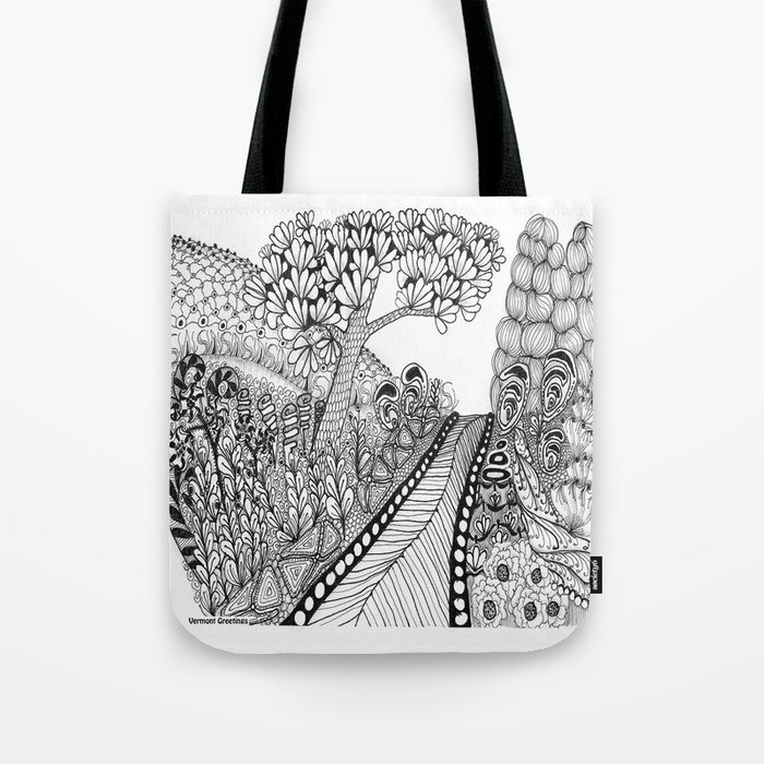 Zentangle Illustration - Road Trip Tote Bag