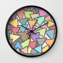Painted Glass pieces Wall Clock