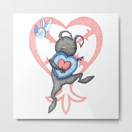 Heartless Stealing Piece of Heart Metal Print