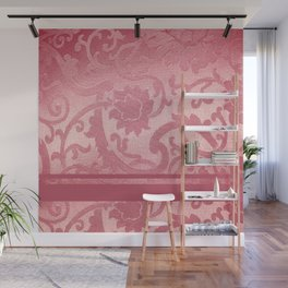 FLORAL SHADOW TAPESTRY | pink Wall Mural