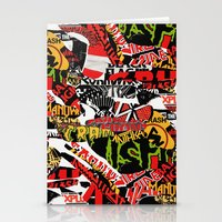 bands Stationery Cards featuring BANDS by DIVIDUS