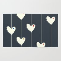 calendars Area & Throw Rugs featuring Heart  by Shabby Studios Design & Illustrations ..