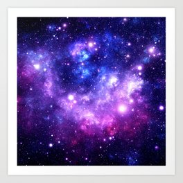 Purple Blue Galaxy Nebula Art Print
