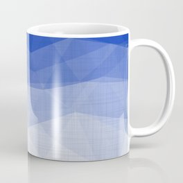 Imperial Lapis Lazuli - Triangles Minimalism Geometry Coffee Mug