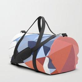 Geometric  bullfinch burd art Pink gray Duffle Bag