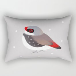 Diamond Firetail Rectangular Pillow