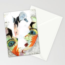 Swan mask Stationery Cards