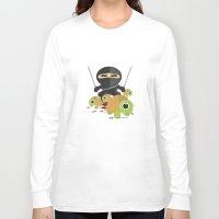 ninja turtles Long Sleeve T-shirts featuring Ninja Turtles by Adamzworld