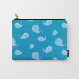 Sea pattern with whales on white Carry-All Pouch
