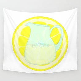 Lemonade With Slice Wall Tapestry