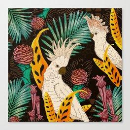 Tropical Cockatoos Canvas Print