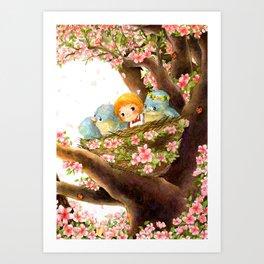 A Spring Scene Art Print