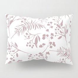 Mauve pink white elegant modern floral Pillow Sham