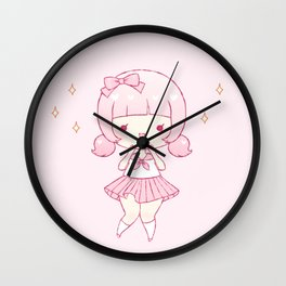 all pink Wall Clock