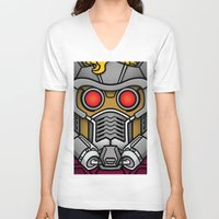 star lord V-neck T-shirts featuring Star Lord by Ryan the Foe