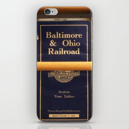 Original Early 1900s American Train Time Tables (RARE) iPhone Skin