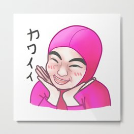 Pink Guy Chibi Metal Print