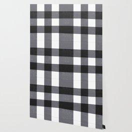 Gingham Dark Style Wallpaper
