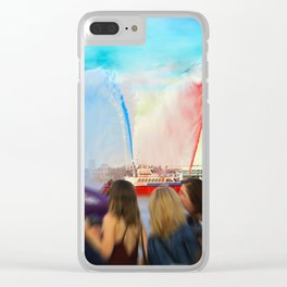 Fire Boat Clear iPhone Case