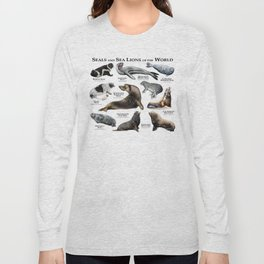Seals and Seal Lions of the World Long Sleeve T-shirt
