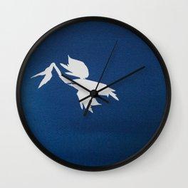 Cyano-pelican Wall Clock