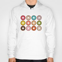 donuts Hoodies featuring Donuts by TinyBee