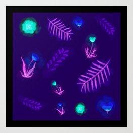 Countryside ferns Art Print