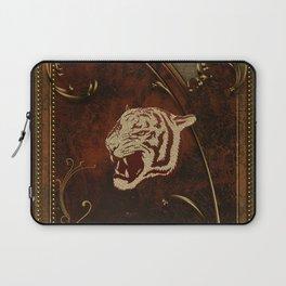 Wonderful  tiger head, golden colors Laptop Sleeve