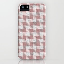 Rosy Brown Buffalo Plaid iPhone Case