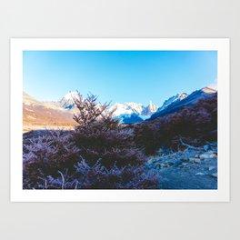 Hiking to Laguna Torre, Patagonia, Argentina Art Print