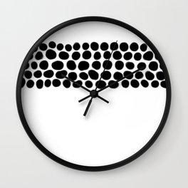 Onyx Spots on White Wall Clock