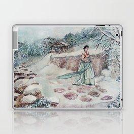 Korean Winter (Watercolor painting) Laptop & iPad Skin