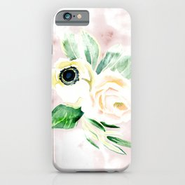 Impermanent Flowers in Pink iPhone Case