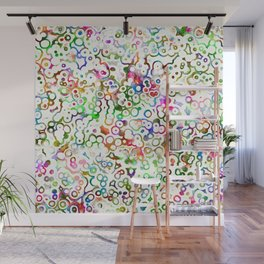Abstract Microbes Wall Mural