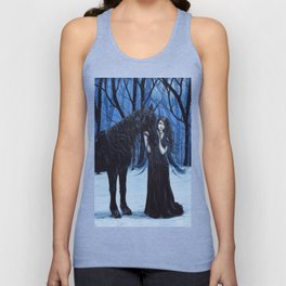 Midnight Travelers Gothic Fairy and Unicorn Unisex Tank Top
