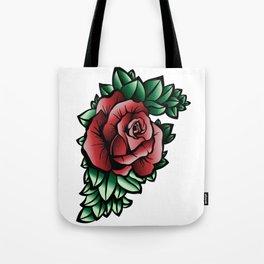 Red Rose Design Tote Bag